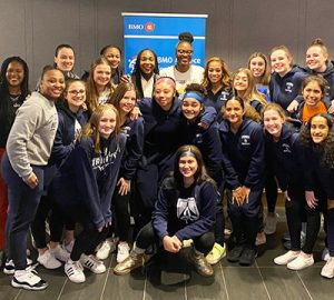 Girls participating in a BMO Harris event for International Women's Day