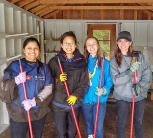 BMO volunteers at Camp Oochigeas
