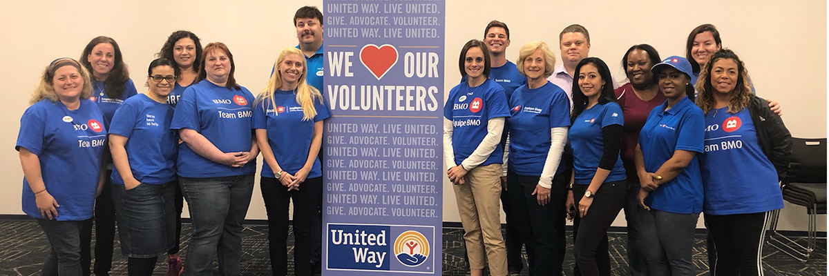 BMO volunteers at BMO Volunteer Day 2019