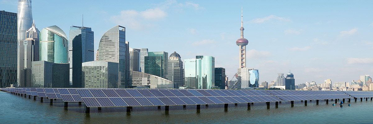 Buildings and solar panels