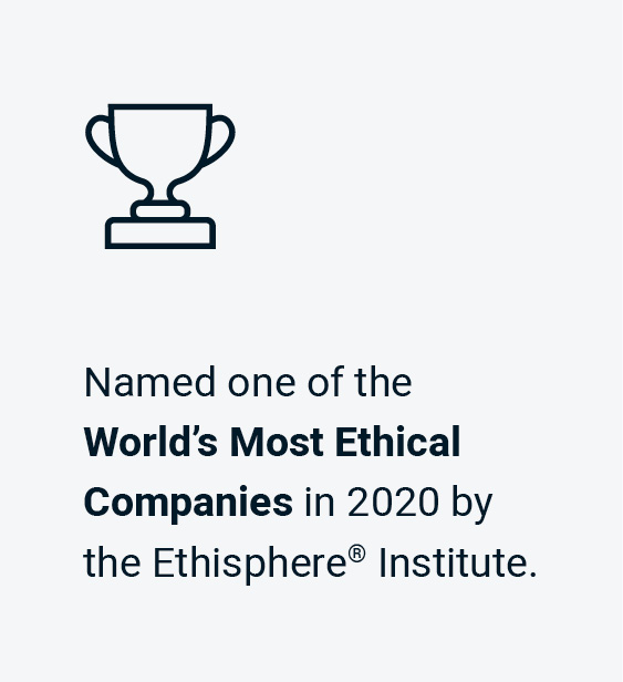 BMO is named one of the World's Most Ehtical Companies in 2020 by the Ethisphere Institute.